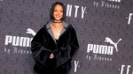 Rihanna attends the JFENTY PUMA by Rihanna fashion show at 23 Wall Street on Friday, Feb. 12, 2016, in New York. (Photo by Andy Kropa/Invision/AP)