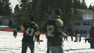 CTV Calgary: Winter baseball in spring conditions