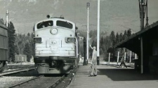 Undated photo of a passenger train in Banff