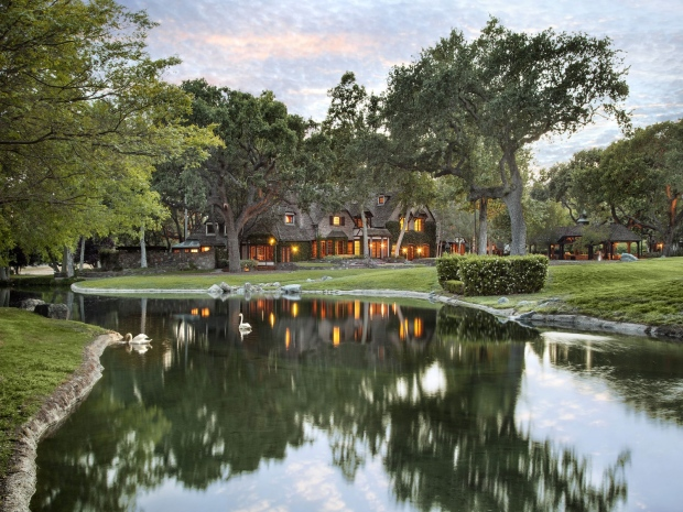 Sycamore Valley Ranch, once known as Neverland Ranch, is nestled in the Santa Ynez Valley&#39;s mountain ranges and century-old forests. <br><br> The 2,698-acre property, with its 12,598-square-foot six-bedroom main residence is for sale for $100,000,000. (Sotheby&#39;s International Realty)