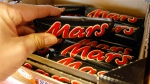 Chocolate bars from Mars are pictured in a store in Gelsenkirchen, Germany, in this Feb. 11, 2008 file photo. (Martin Meissner / AP)