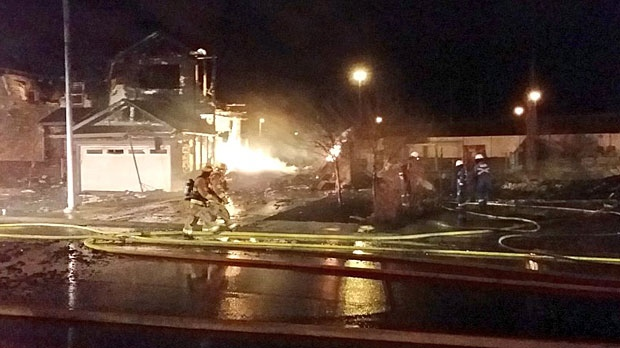 Four homes destroyed by fire in northwest Calgary | CTV ...