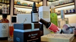 A display of products sold at CAP Beauty-- a wellness store with an all-things-natural approach in West Village of New York, Wednesday April 27, 2016, in New York. (AP Photo/Bebeto Matthews)