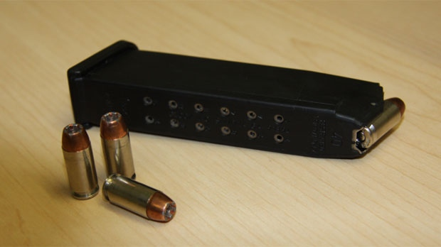 A magazine of ammunition like this one fell from the police officer's belt on April 28, 2016.