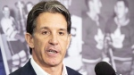 Toronto Maple Leafs President Brendan Shanahan holds a media availability in Toronto on Wednesday, February 3, 2016 (Frank Gunn / THE CANADIAN PRESS).