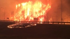 MyNews: Intense flames on Highway 63