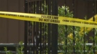 Crime scene tape in Midnapore - explosion