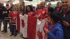 Matt Dumba family - Calgary International AIrport