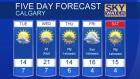 Calgary forecast May 23, 2016