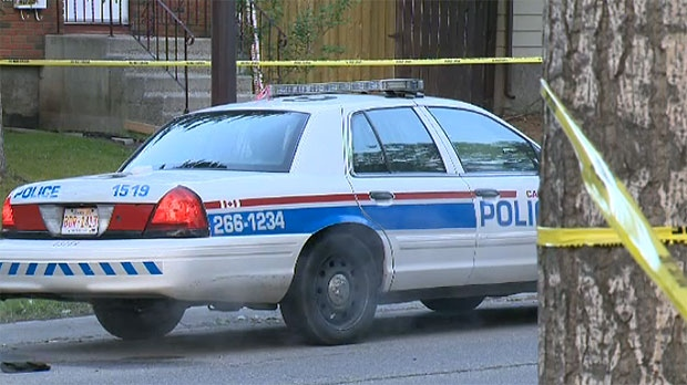 Police say a woman in her 30s was found dead inside a home on Rundlehorn Drive N.E. early Tuesday morning.