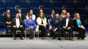 Panel of Tory leadership candidates at convention