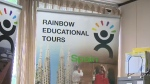 Don Gibson, owner of Rainbow Education Tours, says he is struggling to pay back students for cancelled trips and will not declare bankruptcy.