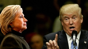 Clinton takes fight to Trump