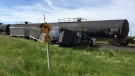 No one was injured when a semi-truck and a train were involved in a crash near Lethbridge on Wednesday morning.