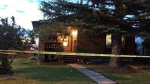 EMS say the victims in a violent home invasion are a man in his 60s and a woman in her 30s.