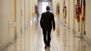 House Benghazi Committee Chairman Rep. Trey Gowdy, walks down a corridor on Capitol Hill in Washington, on June 28, 2016. (J. Scott Applewhite / AP)