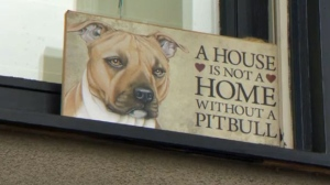 A sign in the Richmond/Knob Hill home following Wednesday's execution of a police search warrant. A dog was fatally shot and a CPS member was injured during the search.