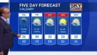 Calgary five day forecast - June 29, 2016