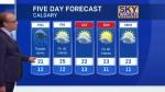 Calgary five day forecast - June 29, 2016