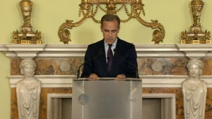 Bank of England governor delivers speech