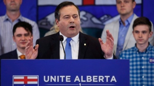 Alberta Conservative MP Jason Kenney announces he will be seeking the leadership of Alberta's Progressive Conservative party in Calgary, Alta., Wednesday, July 6, 2016. THE CANADIAN PRESS/Jeff McIntosh