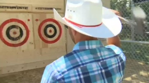 "New attractions at Stampede Park include options from ""A"" - to ""ZZZ""'s. As Alesia Fieldberg reports, there is axe-throwing to a nap-mobile."