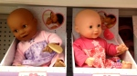 The white doll sells for $24.99, while the other version is priced at $22.99. (CTV Calgary)
