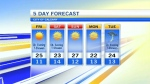 Kevin Stanfield has the 5 Day Forecast from the Sky Watch Centre.