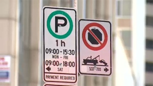 The Calgary Parking Authority says drivers will be given a grace period of one week after a new sign goes up.