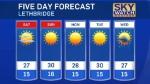 Lethbridge forecast July 22, 2016