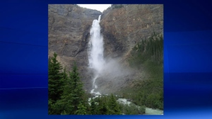Takakkaw Falls in Yoho National Park near the Alberta/British Columbia border (file)