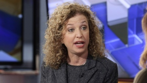 Democratic National Committee (DNC) Chair, Rep. Debbie Wasserman Schultz, D-Fla is interviewed in New York on March 21, 2016. (AP Photo/Richard Drew)