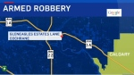 Cochrane - armed robbery map