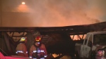 Extended: Blaze tears through Calgary auto recycli