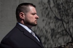 Const. James Forcillo leaves court in Toronto on Monday, May 16 , 2016, after a suspension in his sentencing hearing. The Toronto police officer has been found guilty of attempted murder in the death of a teen on an empty streetcar. THE CANADIAN PRESS/Chris Young