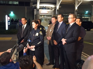 San Diego police announce the death of one of their police officers after a shooting. (San Diego Police/Twitter)