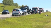 Several people were injured in long weekend crashes near Calgary.