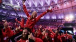 Athletes from Canada march in during the closing ceremony in the Maracana stadium at the 2016 Summer Games in Rio de Janeiro, Brazil, Sunday, Aug. 21, 2016. (AP Photo/David Goldman)
