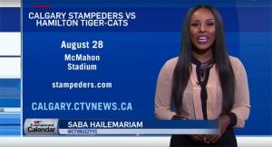 Calgary Stampeders VS Hamilton Tiger-Cats & 'Masters'