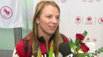 Extended: Gold medalist Erica Wiebe on homecoming