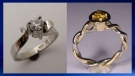 Two of the pieces of jewelry stolen from the Lost Art Jewellery store in Waterton Lakes National Park (RCMP)