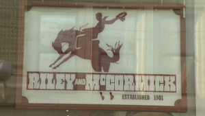 Riley & McCormick has operated in Calgary since 1901 and has now closed its doors in the wake of the slow economy.