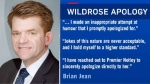 Brian Jean - 'beating' apology