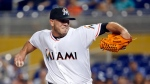 The Marlins announced Sunday, Sept. 25, 2016, that ace right-hander Fernandez has died. The U.S. Coast Guard says Fernandez was one of three people killed in a boat crash off Miami Beach early Sunday. (AP Photo/Wilfredo Lee, File)