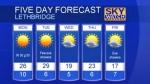 Lethbridge forecast Sep 26, 2016