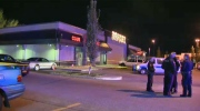 Crime scene outside of Marquee Beer Market - Hicks