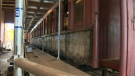 Heritage Park train car restoration project