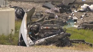 Police say a man died of injuries he sustained in a serious crash on Deerfoot Trail on Friday morning.