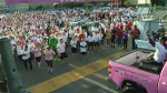 The Canadian Breast Cancer Foundation CIBC Run for the Cure has over 100,000 participants and raises over $20 million.