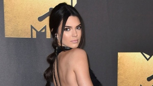 Kendall Jenner arrives at the MTV Movie Awards in Burbank, Calif. on April 9, 2016. (Jordan Strauss / Invision)